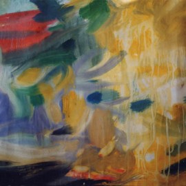 "Hot Day (1999), tempera on paper, 34""x24"""