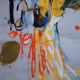 "Yesterday (1994), tempera on paper, 40""x28.8"""