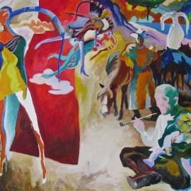 """After Rain (2011), acrylic on canvas, 48""""x76"""""""