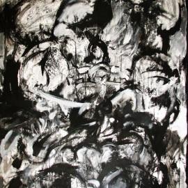 "Sensation (2008), acrylic on canvas, 48""x75"""
