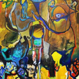 """The Descendant (2019), Acrylic on Canvas, 48""""x76"""""""