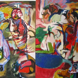 "Father (2011), acrylic on canvas, 92""x46"""