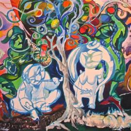 "Tree of Life (2011), acrylic on canvas, 76""x48"""