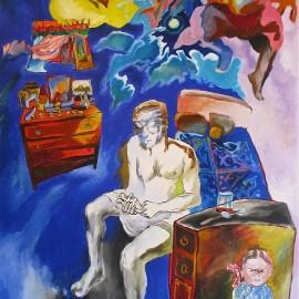 "Angel (2011), acrylic on canvas, 48""x76"""