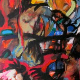"Desire Universe (2009), acrylic on canvas, 32""x58"""
