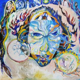 "Dream Mandala (2017), Acrylic on Canvas, 47""x47"""