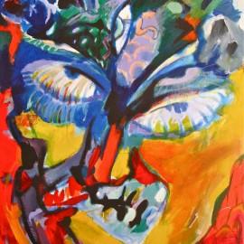 "Desire Universe (2011), acrylic on canvas, 32""x58"""