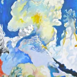 "Cloud Rider (2010), acrylic on canvas, 48""x75"""