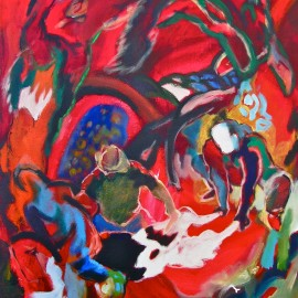 "Wandering Spirit (2011), acrylic on canvas, 35""x56"""