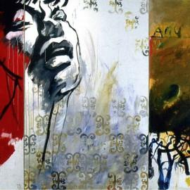 """Swallowed Tear (2005), acrylic on canvas, 144""""x222"""""""