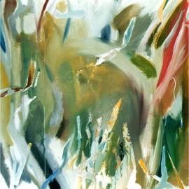 "Cool Wind (2002), acrylic on board, 48""x48"""