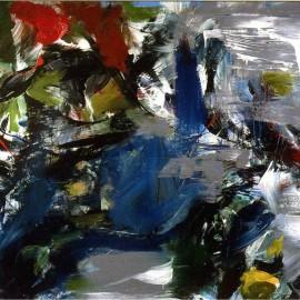 "Predator (2005), acrylic on canvas, 75""x48"""