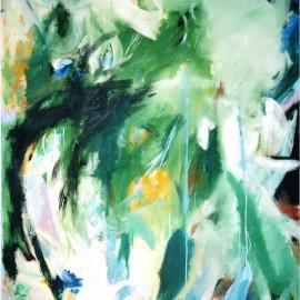 "Eternal Awakening (2006), acrylic on canvas, 48""x75"""