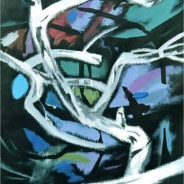 "November (2002), acrylic on paper, 36""x47"""