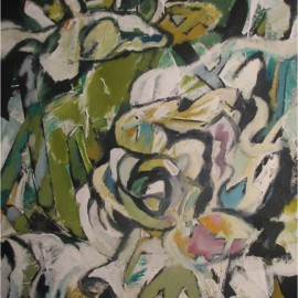 "Fake Rose (2007), acrylic on paper, 35""x53"""