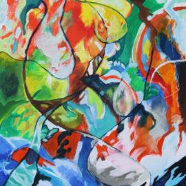 """Prayer Flag (2010), acrylic on canvas, 35.5""""x45.5"""""""