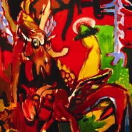"Angels (2009), acrylic on canvas, 56""x41"""