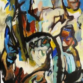 "Dividers (2014), acrylic on canvas, 35.5""x45.5"""