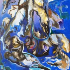 "Disconnect (2014), acrylic on canvas, 35""x39"""