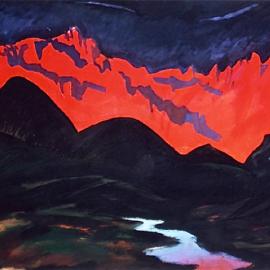 """Breath (1999), tempera on paper, 34""""x24"""""""
