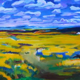 "Listening Wind (2016), acrylic on canvas, 24""x36"""