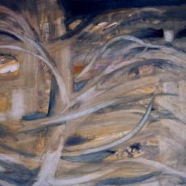 """Breath (2000), tempera on paper, 34""""x24"""""""