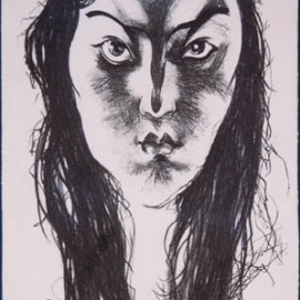 "Khanda (1988), lithography print, 19""x8"""