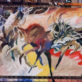 "Agony (1999), tempera on linen, 71.5""x55.5"""