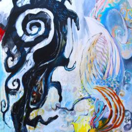 "Eternal Beginning (2019), Acrylic on Canvas, 48""x76"""
