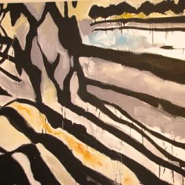 """Shadows (2006), acrylic on canvas, 48""""x74"""""""