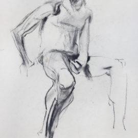 "Figure Study (1988), graphite on paper, 16""x20"""