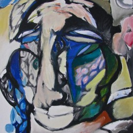 "Nomad Women (2011), acrylic on canvas, 35""x45.5"""