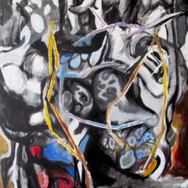 """Forum (2013), acrylic on canvas, 48""""x76"""""""
