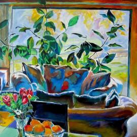 "Yellow Room (2013), acrylic on canvas, 76""x48"""