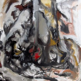 "Untitled (2013), acrylic on canvas, 40""x42"""