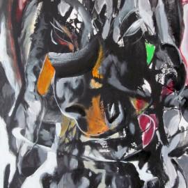 "Dream Catcher (2013), acrylic on canvas, 48""x76"""