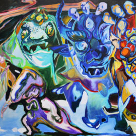 "The Ghost Dance (2018), Acrylic on Canvas, 48""x 76"""