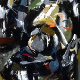 "Dancer in the Dark (2006), acrylic on canvas, 48""x75"""
