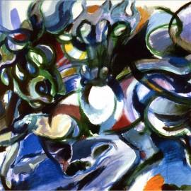 """Luck (2004), acrylic on canvas, 37""""x39"""""""