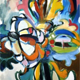 """Reverence (2006), acrylic on canvas, 48""""x75"""""""