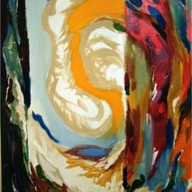 "Infinite (2002), acrylic on board, 36""x48"""