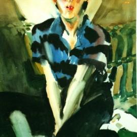 "Baja (1988), watercolor on paper, 34""x24"""