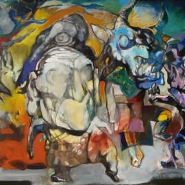 """Dance of Death (2014), acrylic on canvas, 48""""x76"""""""