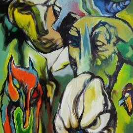 "Urban Metamorphose (2014), acrylic on canvas, 36""x45.5"""