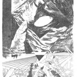 """Lightning (1987), etching print, 12.5""""x10.5"""