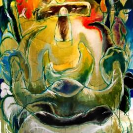 """Uncertain (2008), acrylic on canvas, 48""""x75"""""""
