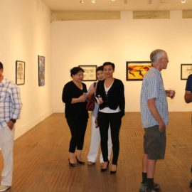 Dividers exhibition opening reception
