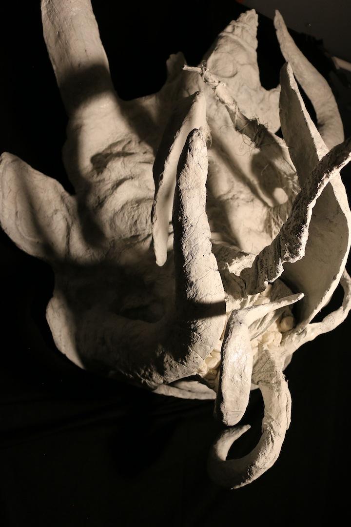 "Yama's Shadow (2018), Paper Mache, 39""x28""x18"""